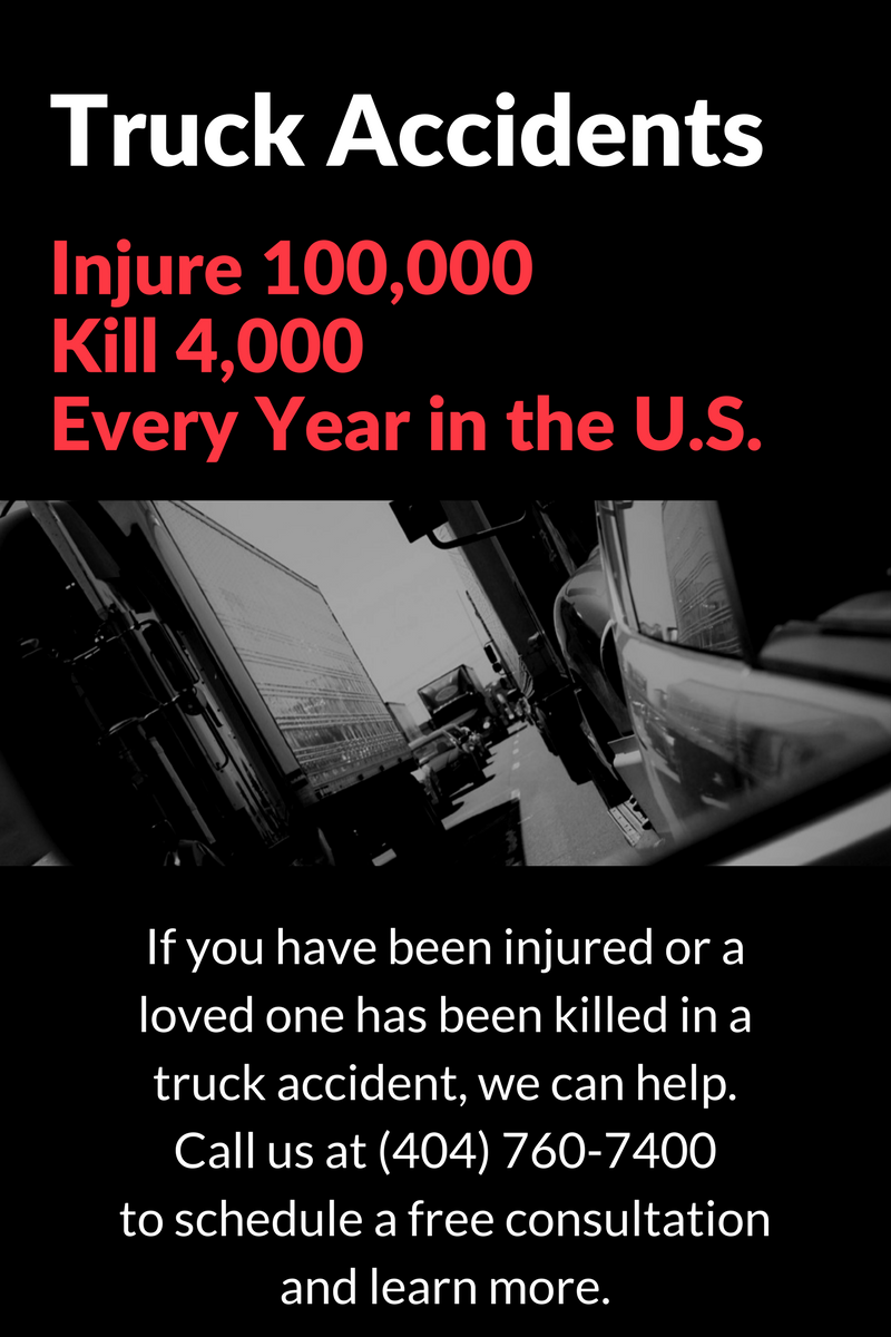 Have you been injured in a truck accident in or around Atlanta? Call Watkins, Lourie, Roll & Chance at 404-760-7400 to schedule a free consultation and learn how we can help.