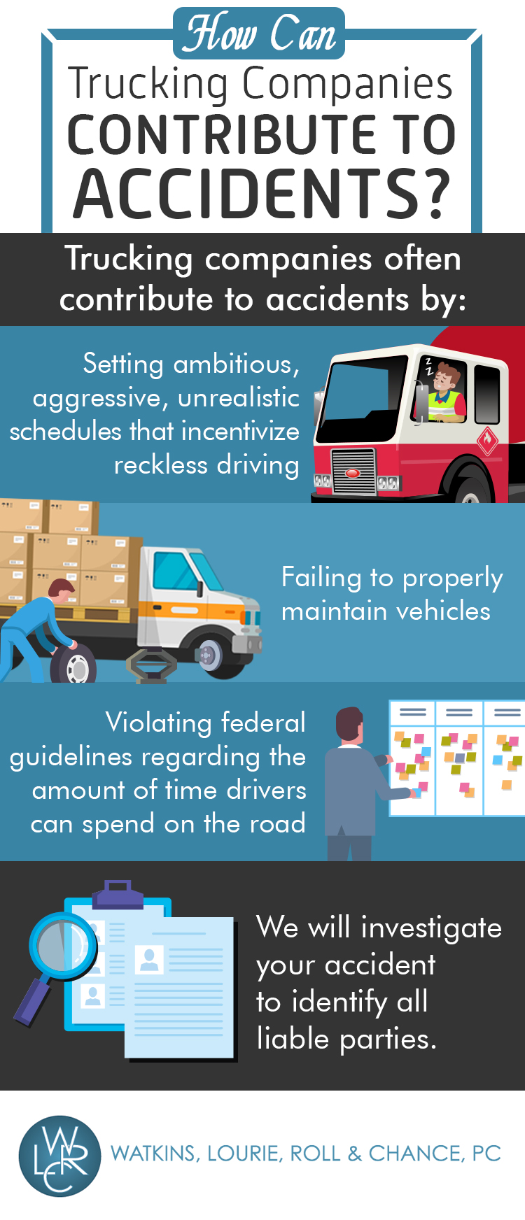 Infographic: How Can Trucking Companies Contribute to Accidents